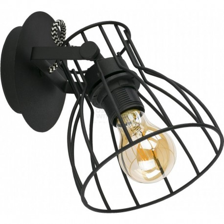 TK LIGHTING KINKIET ALANO BLACK CZARNY