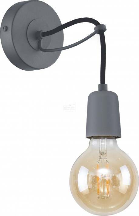 TK LIGHTING KINKIET QUALLE GRAY
