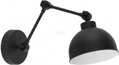 TK LIGHTING KINKIET TECHNO NEW CZARNO-BIAŁY