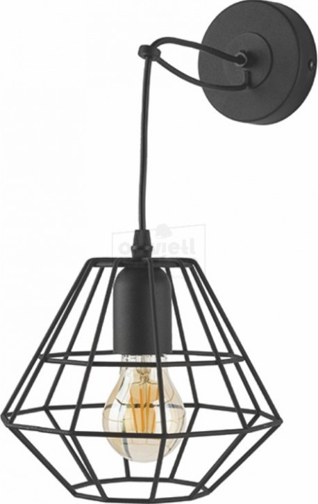 TK LIGHTING KINKIET DIAMOND BLACK CZARNY