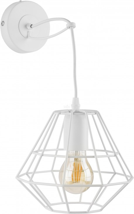 TK LIGHTING KINKIET DIAMOND WHITE BIAŁY