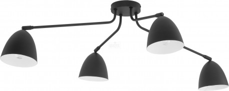 TK LIGHTING LAMPA SUFITOWA LORETTA BLACK CZARNY