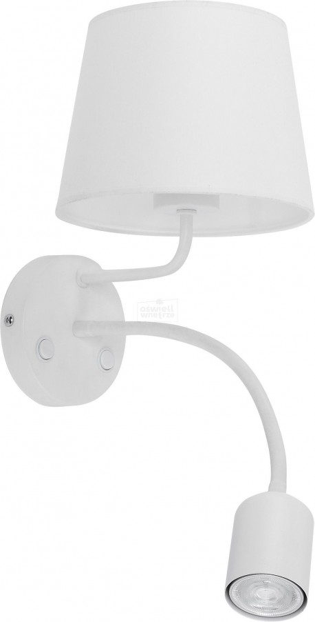 TK LIGHTING KINKIET MAJA LED WHITE BIAŁY