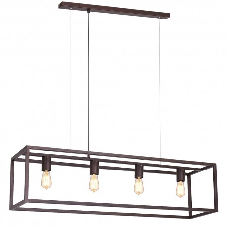 Ceiling lamp Frame rectangle small 4 (colour miedziany) 6501