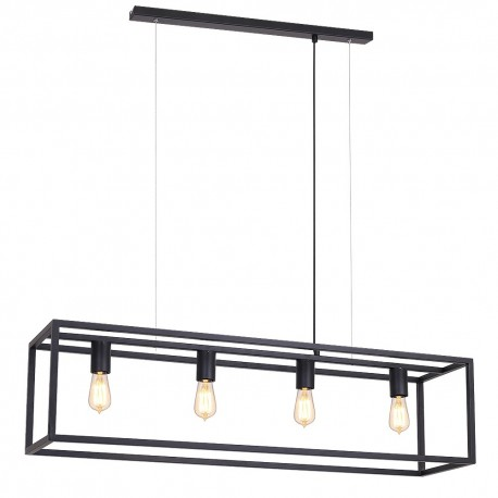 Ceiling lamp Frame rectangle small 4 (colour czarny matt) 6516