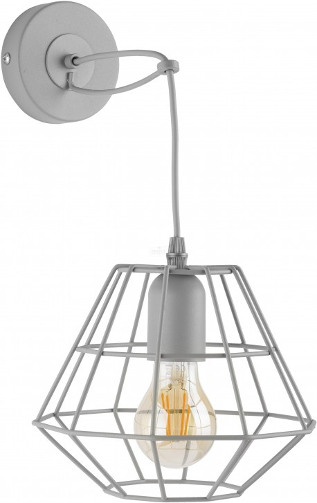 TK LIGHTING KINKIET DIAMOND GRAY SZARY